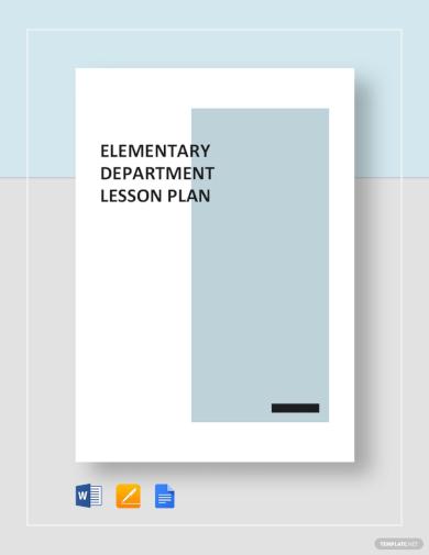 elementary lesson plan