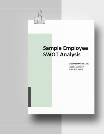 employee real estate swot analysis template