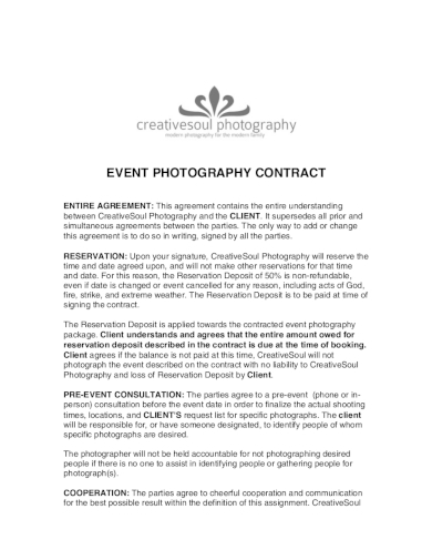 17+ Best Photography Contract Examples & Templates (Download