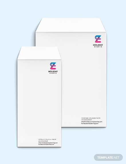 event planner envelope