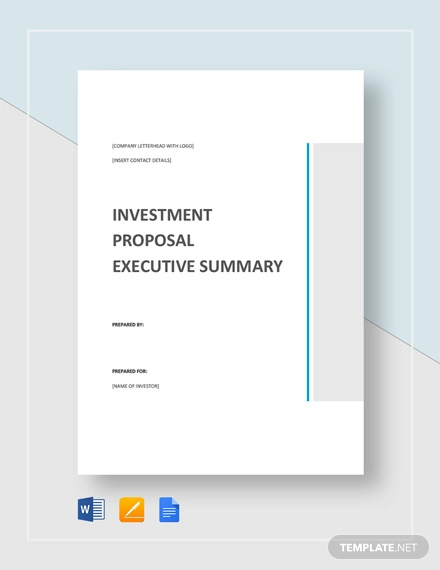 executive summary proposal template