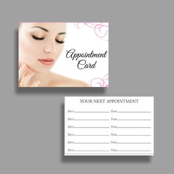 eyelash salon appointment card
