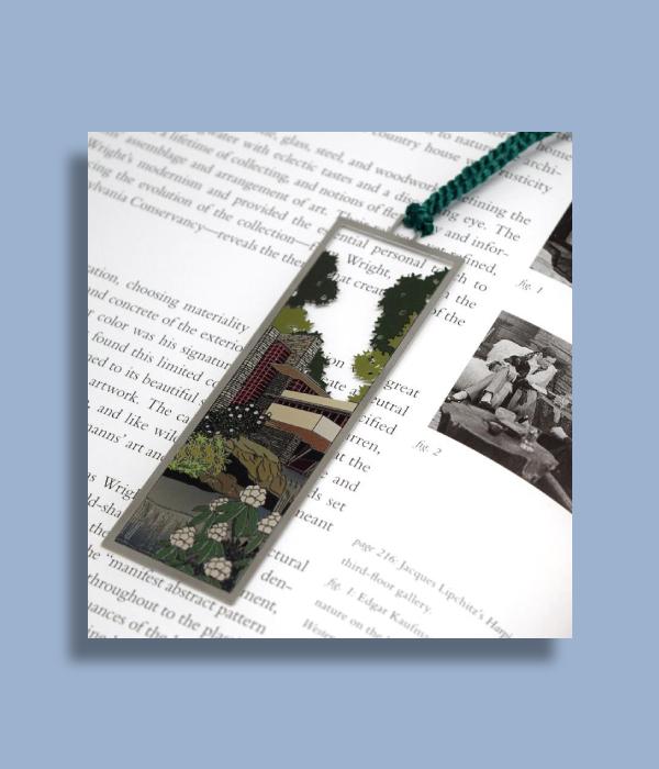 fallingwater silver bookmark