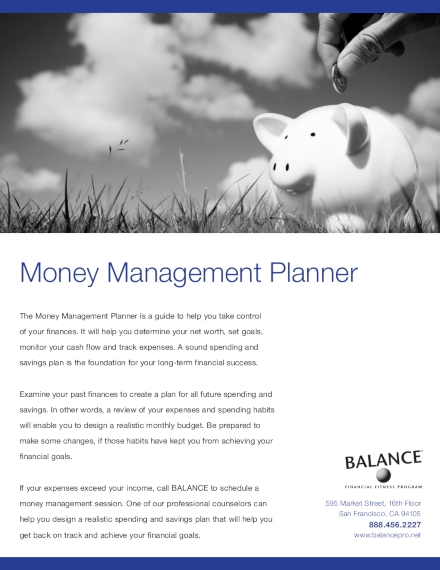 family budget and money management planner