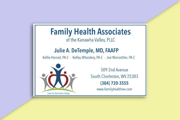 family health associates business card
