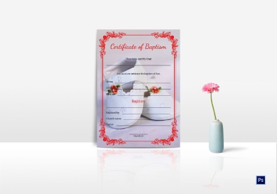 family suite baptismal certificate