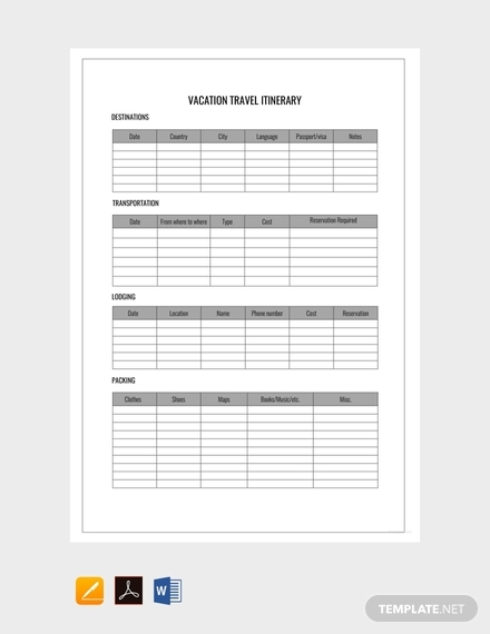 Cruise Itinerary Template from images.examples.com