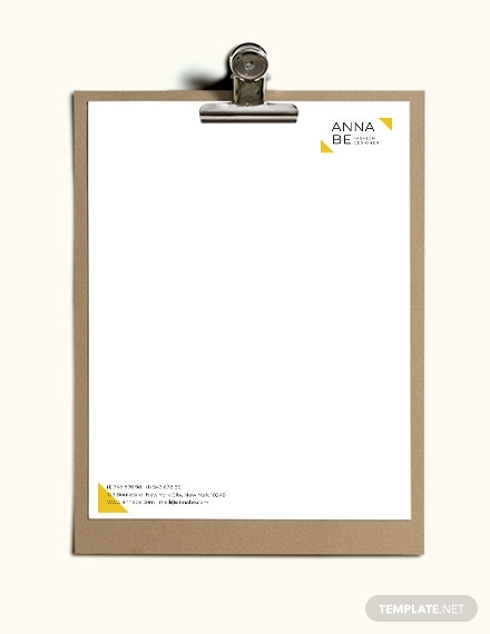 fashion designer letterhead