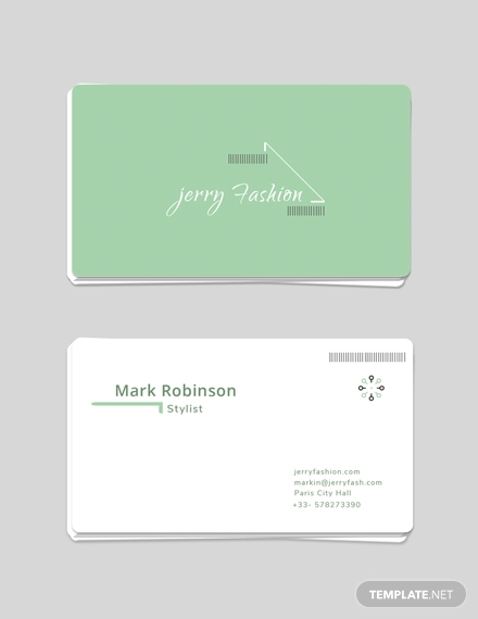 fashion store business card