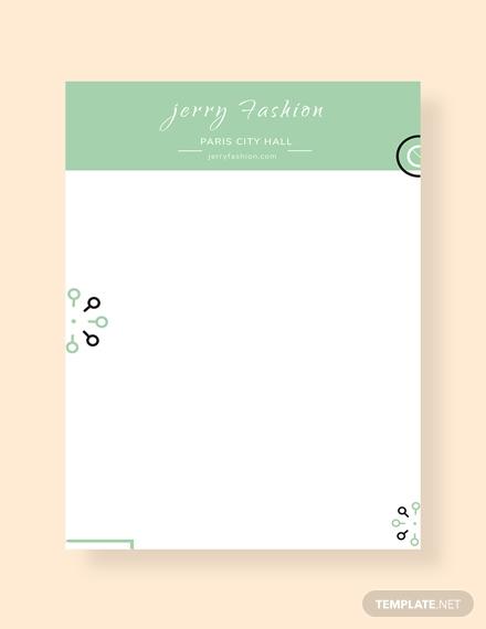 fashion store letterhead