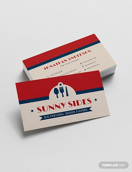 fast food business card1