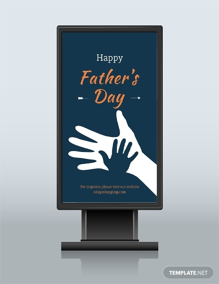 fathers day digital signage