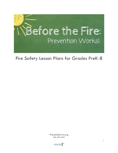 fire safety elementary lesson plan
