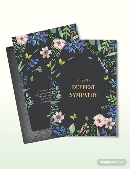 floral sympathy card1