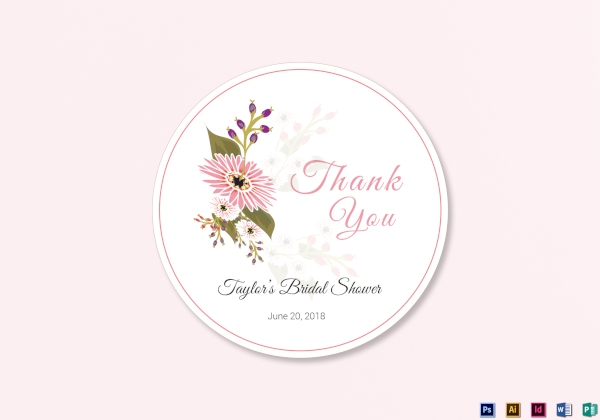 floral wedding label