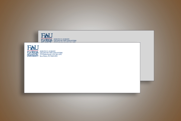 florida atlantic university envelope