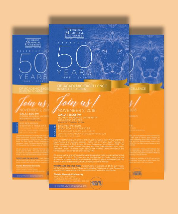 florida memorial university gala invitation ticket