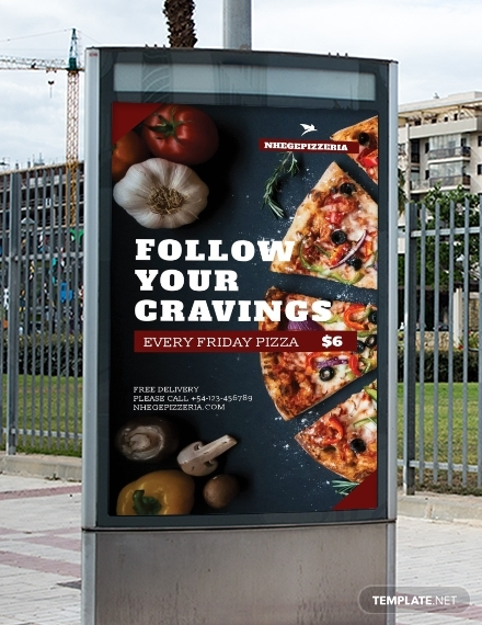 food advertising digital signage