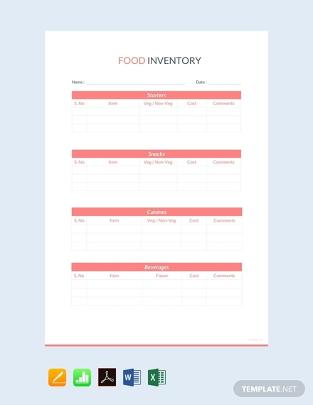 food inventory sheet1