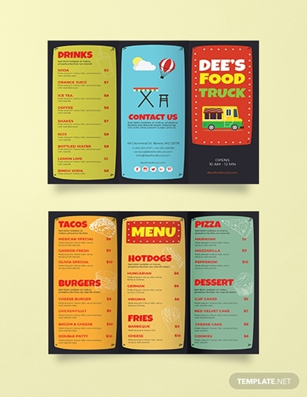 food truck brochure template