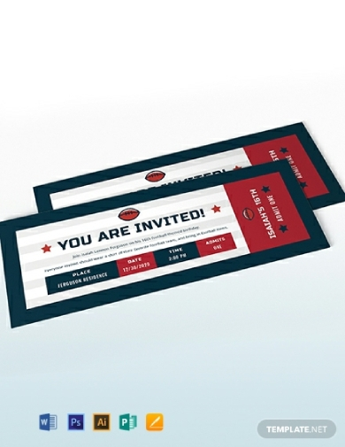 football ticket birthday invitation1
