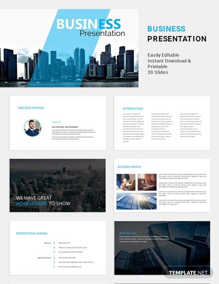 formal business presentation