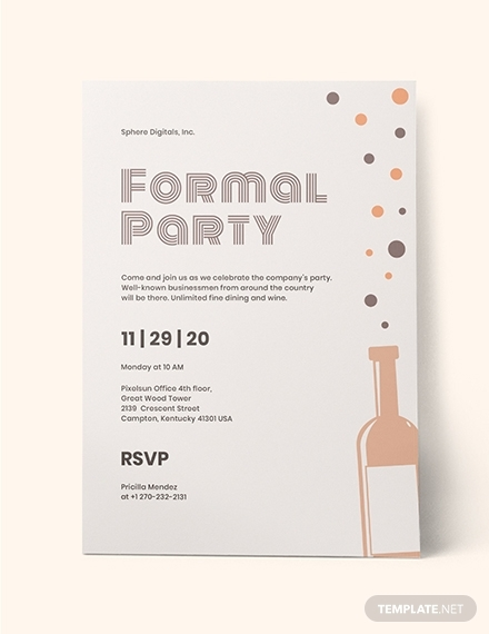 formal party invitation