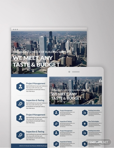 free architecture email newsletter template