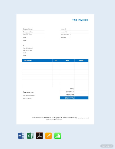 free basic tax invoice template1