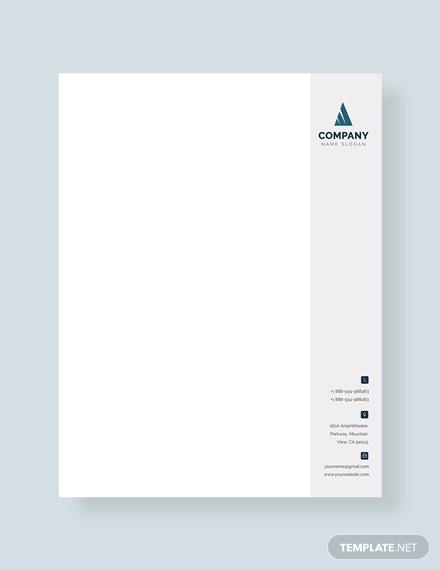 free business letterhead format