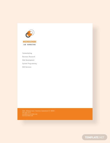 free business marketing letterhead template