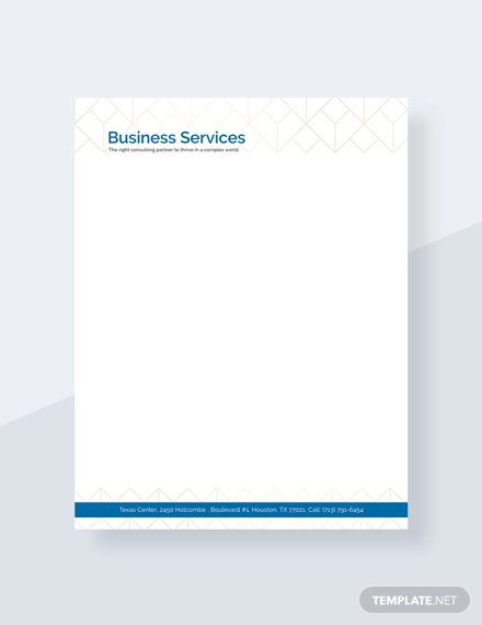 free business service letterhead template