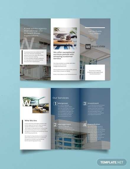 free commercial real estate brochure template 1x