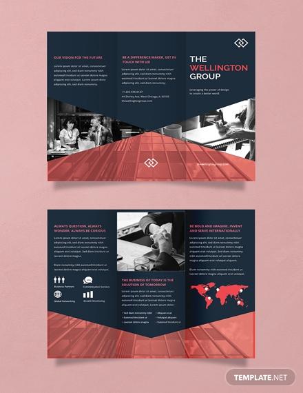 free corporate brochure template 1x