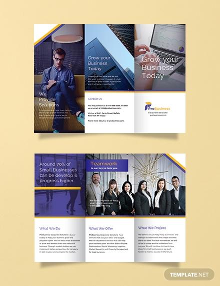 free corporate business brochure template 1x