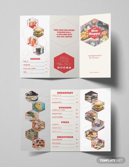 free fast food brochure
