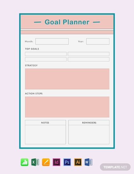 free goal planner template main