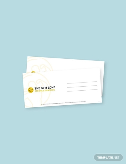 free gym envelope template