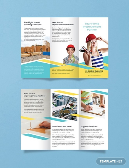 free home builder brochure template 1x