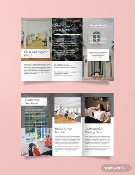 free home real estate brochure template 1x