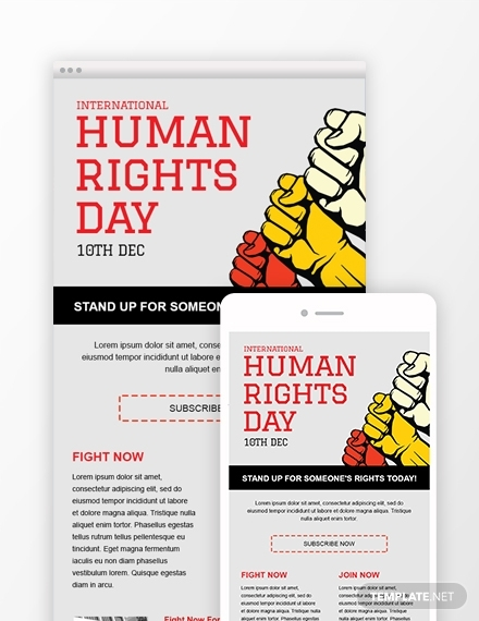 free human rights email newsletter template