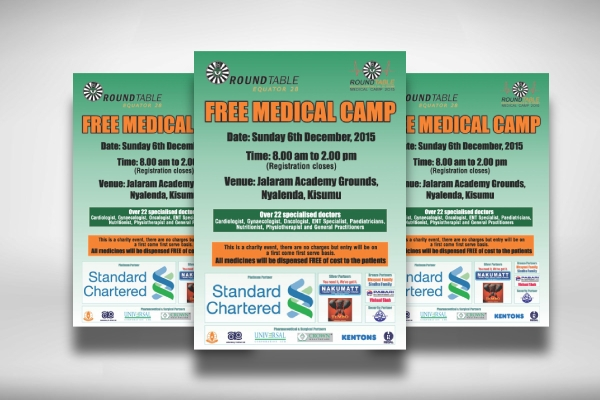 free medical camp poster