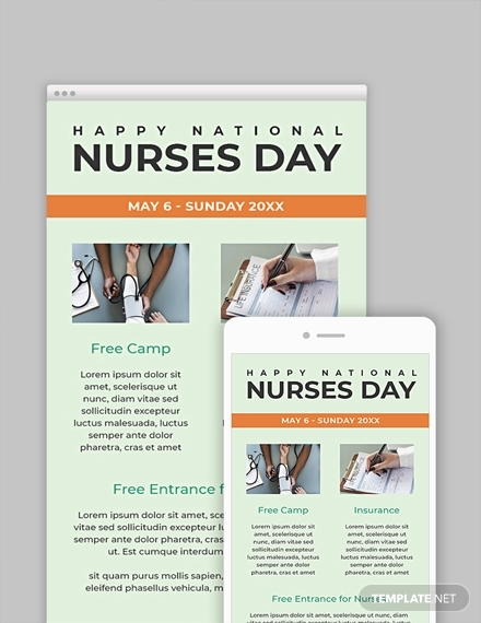 free nurses day email newsetter template