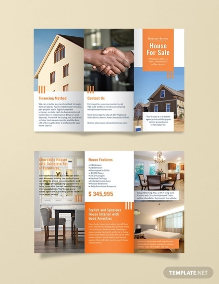 free real estate sales brochure template