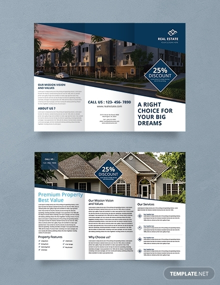 free real estate trifold brochure template 440 1