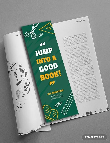 free school bookmark template4 1