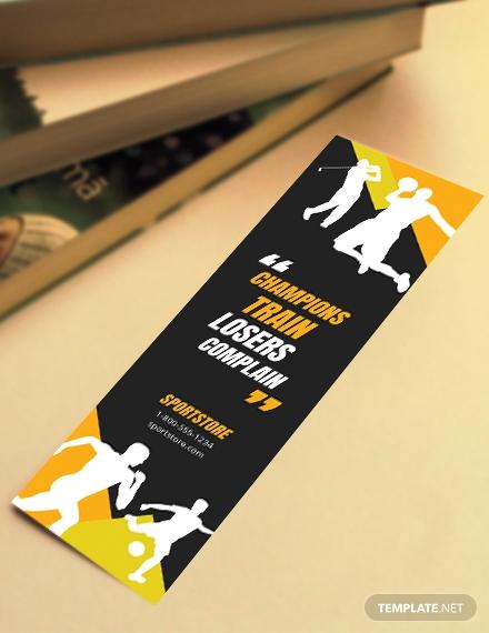 free sport bookmark template 4