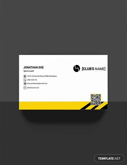 free sports business card template