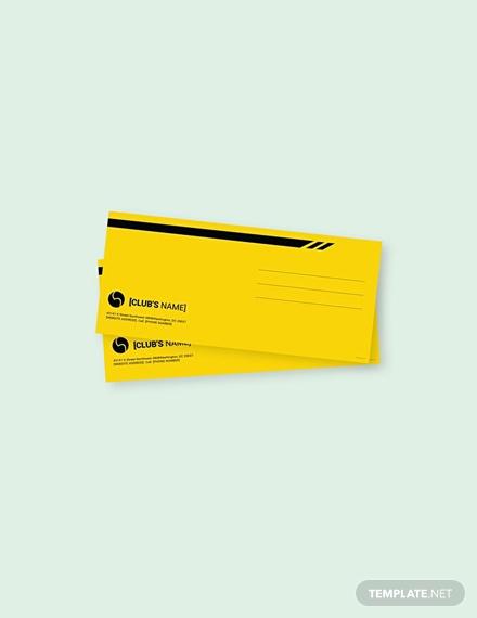 free sports envelope template1