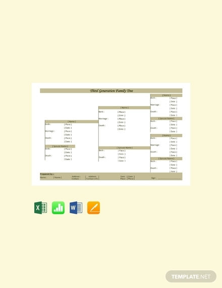 free third generation family tree template 440x570 1